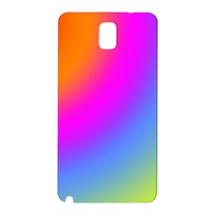 Radial Gradients Red Orange Pink Blue Green Samsung Galaxy Note 3 N9005 Hardshell Back Case by EDDArt