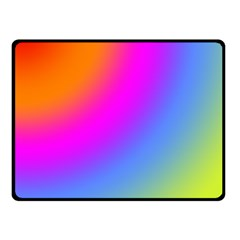 Radial Gradients Red Orange Pink Blue Green Double Sided Fleece Blanket (small)  by EDDArt