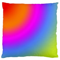 Radial Gradients Red Orange Pink Blue Green Standard Flano Cushion Case (one Side) by EDDArt