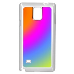 Radial Gradients Red Orange Pink Blue Green Samsung Galaxy Note 4 Case (white) by EDDArt