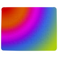 Radial Gradients Red Orange Pink Blue Green Jigsaw Puzzle Photo Stand (rectangular) by EDDArt