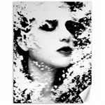 Romantic Dreaming Girl Grunge Black White Canvas 12  x 16   16 x12 Canvas - 1