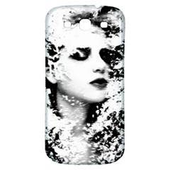 Romantic Dreaming Girl Grunge Black White Samsung Galaxy S3 S Iii Classic Hardshell Back Case by EDDArt