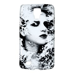 Romantic Dreaming Girl Grunge Black White Galaxy S4 Active by EDDArt