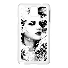 Romantic Dreaming Girl Grunge Black White Samsung Galaxy Note 3 N9005 Case (white) by EDDArt