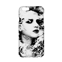 Romantic Dreaming Girl Grunge Black White Apple Iphone 6/6s Hardshell Case by EDDArt