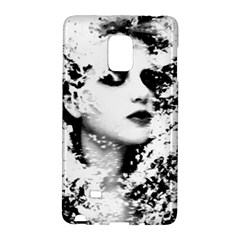 Romantic Dreaming Girl Grunge Black White Galaxy Note Edge by EDDArt