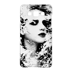Romantic Dreaming Girl Grunge Black White Samsung Galaxy A5 Hardshell Case  by EDDArt