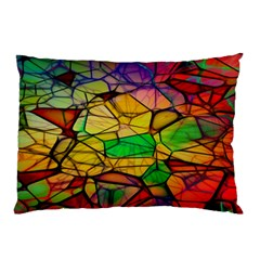 Abstract Squares Triangle Polygon Pillow Case by AnjaniArt