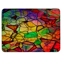 Abstract Squares Triangle Polygon Samsung Galaxy Tab 7  P1000 Flip Case by AnjaniArt