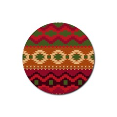 Background Plot Fashion Rubber Coaster (round)