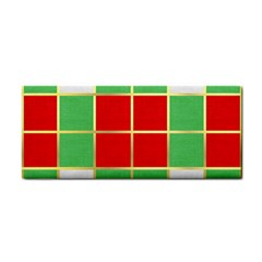 Christmas Fabric Textile Red Green Hand Towel