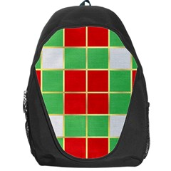 Christmas Fabric Textile Red Green Backpack Bag