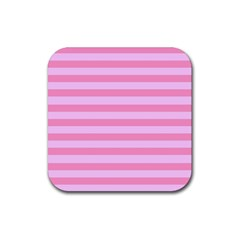 Fabric Baby Pink Shades Pale Rubber Square Coaster (4 Pack)  by AnjaniArt