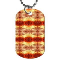 Fabric Design Pattern Color Dog Tag (two Sides) by AnjaniArt