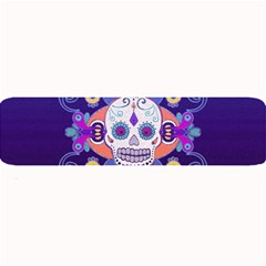 Día De Los Muertos Skull Ornaments Multicolored Large Bar Mats by EDDArt