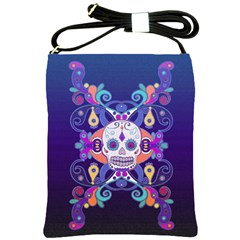 Día De Los Muertos Skull Ornaments Multicolored Shoulder Sling Bags by EDDArt