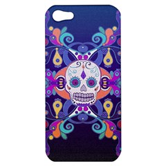 Día De Los Muertos Skull Ornaments Multicolored Apple Iphone 5 Hardshell Case by EDDArt