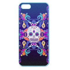 Día De Los Muertos Skull Ornaments Multicolored Apple Seamless Iphone 5 Case (color) by EDDArt