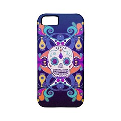 Día De Los Muertos Skull Ornaments Multicolored Apple Iphone 5 Classic Hardshell Case (pc+silicone) by EDDArt