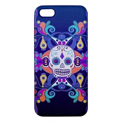 Día De Los Muertos Skull Ornaments Multicolored Apple Iphone 5 Premium Hardshell Case by EDDArt