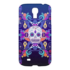 Día De Los Muertos Skull Ornaments Multicolored Samsung Galaxy S4 I9500/i9505 Hardshell Case by EDDArt
