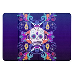 Día De Los Muertos Skull Ornaments Multicolored Samsung Galaxy Tab 8 9  P7300 Flip Case by EDDArt