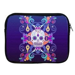 Día De Los Muertos Skull Ornaments Multicolored Apple Ipad 2/3/4 Zipper Cases by EDDArt