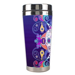 Día De Los Muertos Skull Ornaments Multicolored Stainless Steel Travel Tumblers by EDDArt