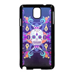 Día De Los Muertos Skull Ornaments Multicolored Samsung Galaxy Note 3 Neo Hardshell Case (black) by EDDArt