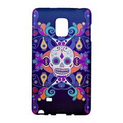 Día De Los Muertos Skull Ornaments Multicolored Galaxy Note Edge by EDDArt