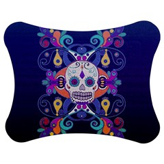 Día De Los Muertos Skull Ornaments Multicolored Jigsaw Puzzle Photo Stand (bow) by EDDArt