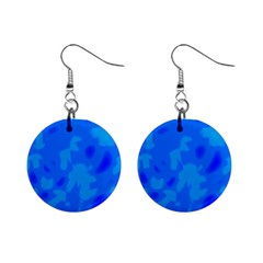 Simple Blue Mini Button Earrings by Valentinaart