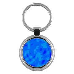 Simple Blue Key Chains (round)  by Valentinaart