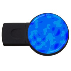 Simple Blue Usb Flash Drive Round (2 Gb)  by Valentinaart