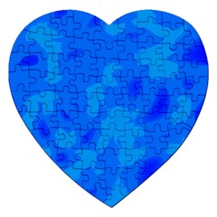 Simple Blue Jigsaw Puzzle (heart) by Valentinaart