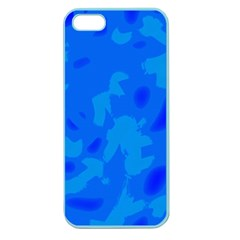 Simple Blue Apple Seamless Iphone 5 Case (color) by Valentinaart