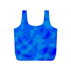 Simple Blue Full Print Recycle Bags (s)  by Valentinaart