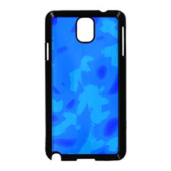 Simple Blue Samsung Galaxy Note 3 Neo Hardshell Case (black)