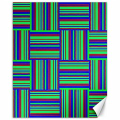 Fabric Pattern Design Cloth Stripe Canvas 16  X 20   by AnjaniArt