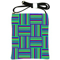 Fabric Pattern Design Cloth Stripe Shoulder Sling Bags by AnjaniArt