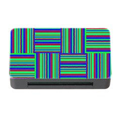 Fabric Pattern Design Cloth Stripe Memory Card Reader With Cf by AnjaniArt
