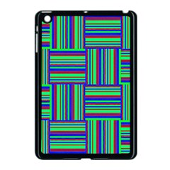Fabric Pattern Design Cloth Stripe Apple Ipad Mini Case (black) by AnjaniArt