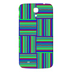 Fabric Pattern Design Cloth Stripe Samsung Galaxy Mega I9200 Hardshell Back Case