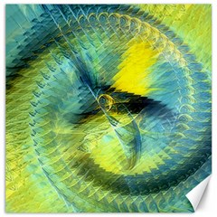 Light Blue Yellow Abstract Fractal Canvas 16  X 16   by designworld65