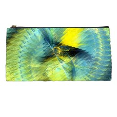 Light Blue Yellow Abstract Fractal Pencil Cases by designworld65