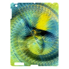 Light Blue Yellow Abstract Fractal Apple Ipad 3/4 Hardshell Case by designworld65