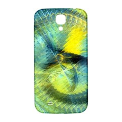 Light Blue Yellow Abstract Fractal Samsung Galaxy S4 I9500/i9505  Hardshell Back Case by designworld65