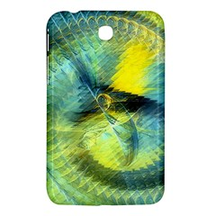 Light Blue Yellow Abstract Fractal Samsung Galaxy Tab 3 (7 ) P3200 Hardshell Case  by designworld65
