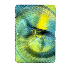 Light Blue Yellow Abstract Fractal Samsung Galaxy Tab 2 (10 1 ) P5100 Hardshell Case  by designworld65